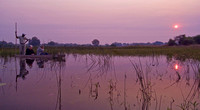 Sunrise on the Okavango Delta, Botswana